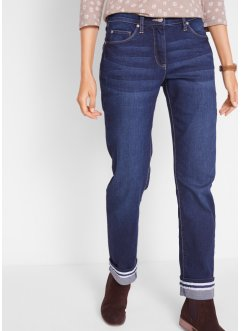 Stretchjeans mit Umschlag, Straight, bpc bonprix collection