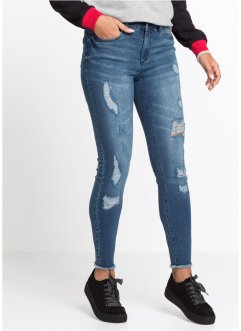 Verkürzte Super-Skinny-Jeans mit Push-up-Effekt, RAINBOW
