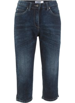 Capri-Komfort-Stretch-Jeans mit Bequembund im Used-Look, bpc bonprix collection