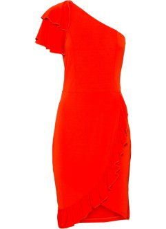 One-Shoulder-Kleid mit Volants, BODYFLIRT boutique