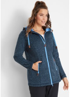 Strickfleecejacke mit Kapuze, bpc bonprix collection
