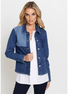 Jeansjacke in Patchwork-Optik, bpc selection