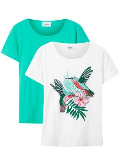 Mädchen T-Shirt (2er Pack), bpc bonprix collection