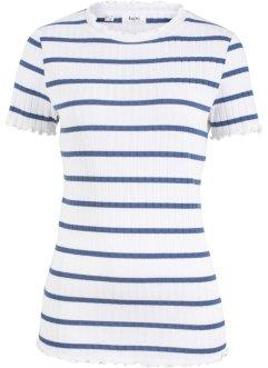 c231315e442a57 Ripp-Shirt mit Wellkante Kurzarm, bpc bonprix collection
