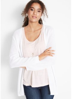 Offener Baumwoll Cardigan in Crochet-Optik, bpc bonprix collection