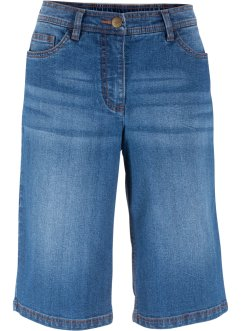 Jeansbermuda mit Teilgummibund, bpc bonprix collection
