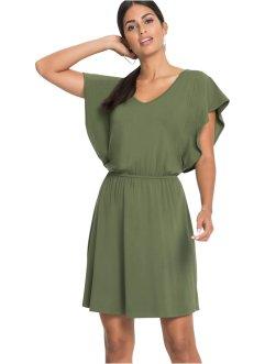 44fe31d959b Sommerkleid aus Jersey mit Volant- Auml rmeln