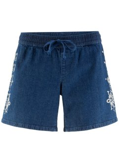 Stretch-Jeans-Short mit Stickerei, John Baner JEANSWEAR