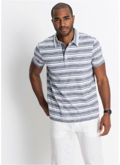 Kurzarmpoloshirt gestreift, bpc bonprix collection