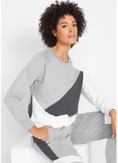 Sweatshirt mit Kontrasteinsätzen, langarm, bpc bonprix collection