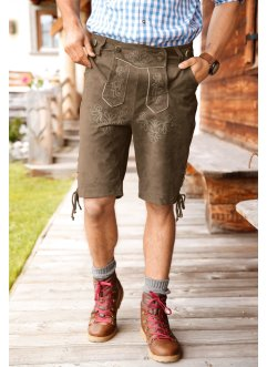 Kurze Lederhose Regular Fit, Trachten-Shorts, bpc selection