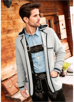 Trachten-Strickjacke mit Kapuze, bpc selection