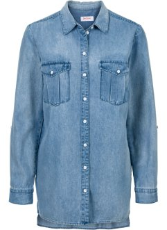 Jeansbluse, extralang, Langarm, John Baner JEANSWEAR