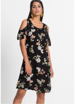 Cold-Shoulder-Kleid mit Print, BODYFLIRT