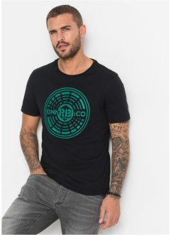 T-Shirt mit Druck Slim Fit, RAINBOW