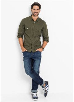 Power-Stretch-Jeans Slim Fit mit Spezial-Bauchschnitt, John Baner JEANSWEAR