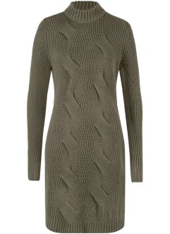 Strickkleid mit Zopfmuster, bpc bonprix collection
