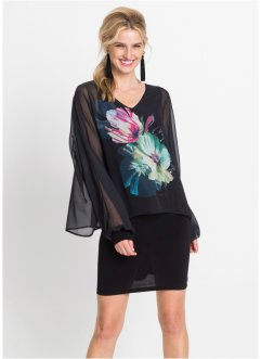 Shirtkleid mit Blumen-Print, BODYFLIRT boutique