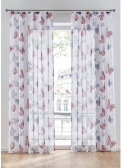 Transparente Gardine mit Schmetterling Druck (1er Pack), bpc living bonprix collection