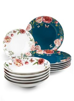 Tafelservice Roses (12-tlg.Set), bpc living bonprix collection