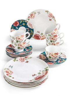 Kaffeeservice Roses (18-tlg.Set), bpc living bonprix collection