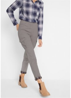 Push-Up Jeans mit kariertem Umschlag, bpc bonprix collection