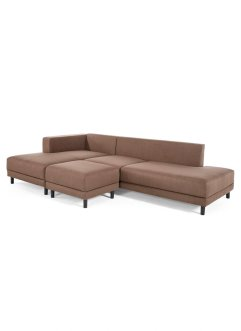 Ecksofa links mit Hocker (2-tlg.Möbelset), bpc living bonprix collection