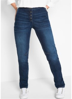 Stretchjeans mit Rippbund, bpc bonprix collection