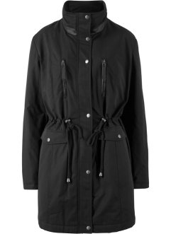 Parka mit Lederimitatbesatz, bpc bonprix collection