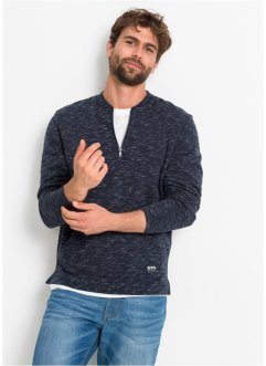 Sweatshirt Baseballkragen meliert, bpc bonprix collection