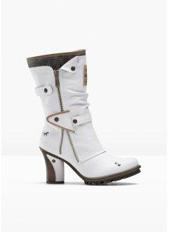 Mustang Schuhe Pumps Stiefel Stiefeletten weiß 38