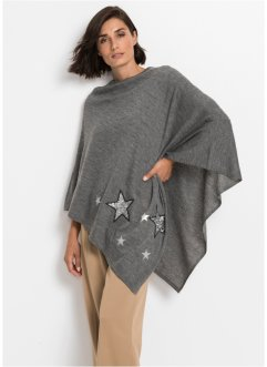 Poncho mit Pailetten-Sternen, bpc bonprix collection
