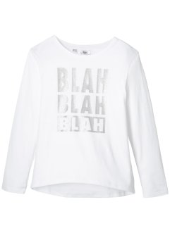 Langarmshirt mit Glitzerdruck, bpc bonprix collection