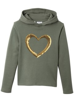Kapuzensweatshirt mit Pailletten, bpc bonprix collection