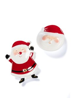Weihnachtsteller Santa (2-tlg.Set), bpc living bonprix collection