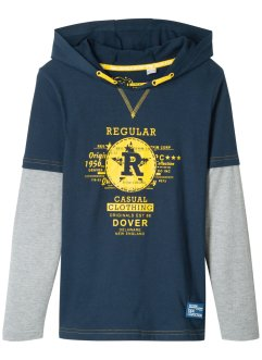 Jungen Layershirt mit Kapuze, bpc bonprix collection