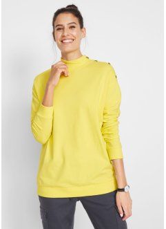 Boxy Shirt mit Turtleneck und Knöpfen, bpc bonprix collection