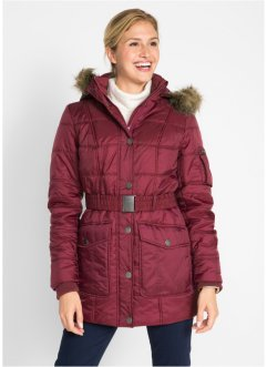 Steppjacke mit Fellimitatbesatz, bpc bonprix collection