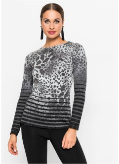 Pullover mit Leoprint, BODYFLIRT boutique
