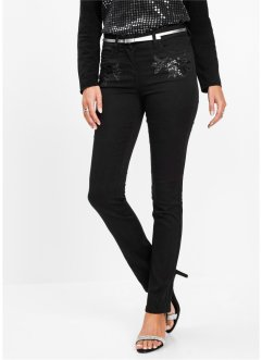 Jeans mit Blumenapplikation, bpc selection premium
