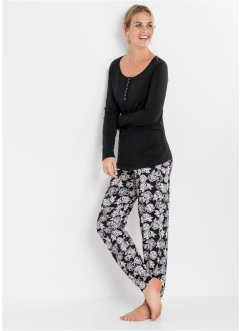 Still-Pyjama Bio Baumwolle, bpc bonprix collection - Nice Size