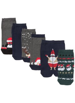 Kurzsocken Weihnachten (6er-Pack), bpc bonprix collection