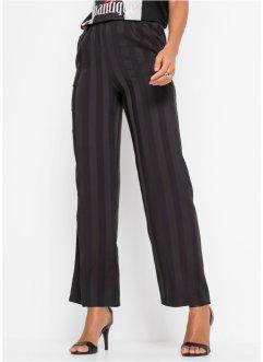 Details zu Weite Hose mit Taschen Gr. 3638 Schwarz Bedruckt Damenhose Damen Pants Neu