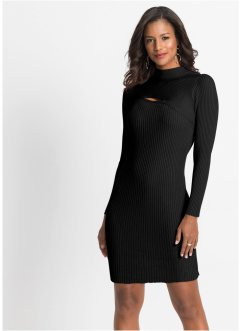 Ripp-Strickkleid mit Cut Out, BODYFLIRT boutique