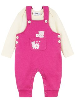 Baby Langarmbody + Sweatlatzhose (2-tlg. Set) Bio-Baumwolle, bpc bonprix collection
