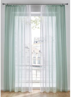Transparente Gardinen mit Farbverlauf (2er Pack), bpc living bonprix collection