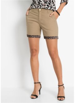Chino-Shorts, Satin-Einsatz, BODYFLIRT boutique