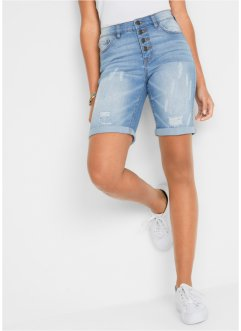 hell Hose Damen Hosenbein Stickerei Short Damenhose kurz Gr. M