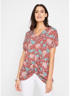 44 46 Damen Oversize Shirt Fledermaus Bluse Viskose Khaki Grün Töne Italien Gr