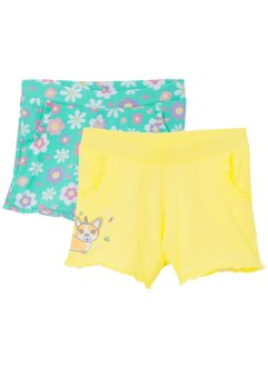 Mädchen Jersey-Shorts (2er-Pack), bpc bonprix collection